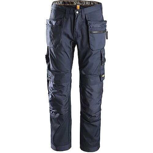 """Snickers 6200 AllroundWork Trousers Plus Holster Pockets Navy W36"""" L30"""" Size 104 WW1"""