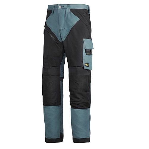 "6202 RuffWork, Work Trousers+ Holster Pockets Petrol/Black 5104 Size 104 36""/30"""