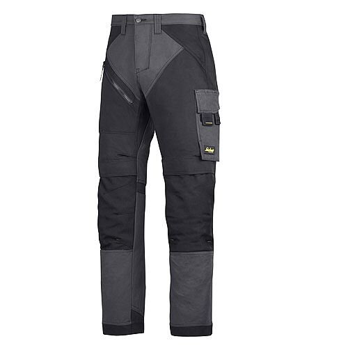 "6202 RuffWork, Work Trousers+ Holster Pockets Steel grey\Black - 5804 Size 104 36""/30"""