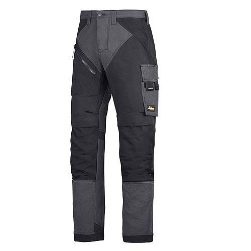 "6202 RuffWork, Work Trousers+ Holster Pockets Steel grey\Black - 5804 Size 264 50""/37"""