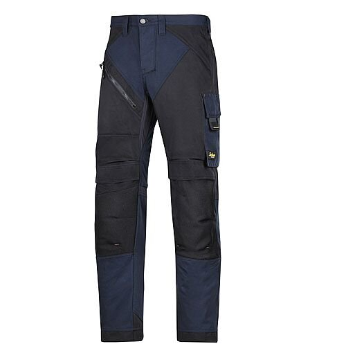 "6202 RuffWork, Work Trousers+ Holster Pockets Navy\Black - 9504 Size 104 36""/30"""