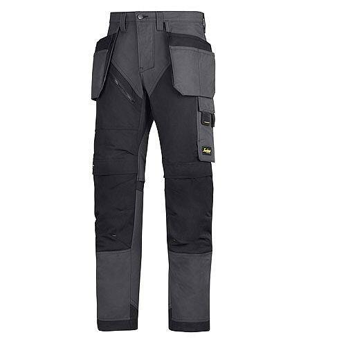 "6203 RuffWork, Work Trousers Holster Pockets Steel grey\Black - 5804 Size 200 35""/28"""