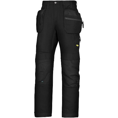 "Snickers 6206 LiteWork 37.5 Trousers Plus Holster Pockets Black W44"" L30"" Size 120 WW1"