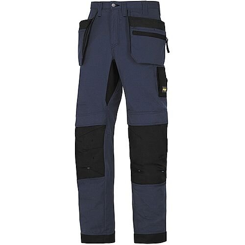 "Snickers 6206 LiteWork 37.5 Trousers Plus Holster Pockets Navy - Black W44"" L30"" Size 120 WW1"