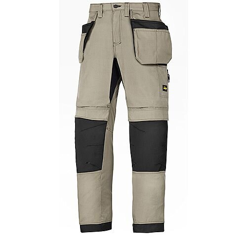 "Snickers LiteWork 37.5 Holster Pockets Trousers Waist 44"" Inside leg 30"" Khaki Black Size 120 WW1"