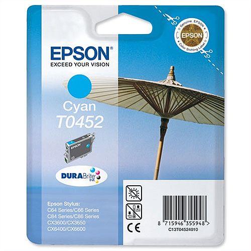 Epson T0452 Cyan Ink Cartridge (C13T04524010)