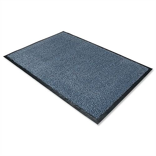 Dust Control Door Mat Polypropylene 600mmx900mm Blue Doortex. Easy To Clean With Vacuum Cleaner Or Hose Pipe. Retains Moisture &Dust Control Properties. Blue In Colour &Includes Anti-Slip Backing.