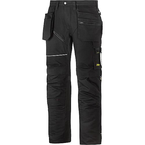 "Snickers 6215 RuffWork Cotton Trousers With Holster Pockets Black W44"" L30"" Size 120 WW1"