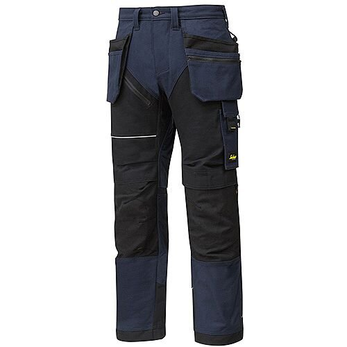 "Snickers 6215 RuffWork Cotton Trousers With Holster Pockets Navy - Black W44"" L30"" Size 120 WW1"