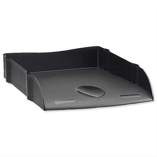 Avery DTR Black Letter Tray Self Stacking