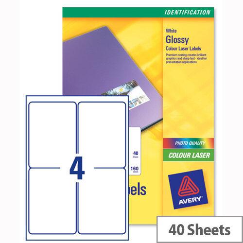 Avery L7769-40 Address Labels Colour 4 Per Sheet 139 X 99