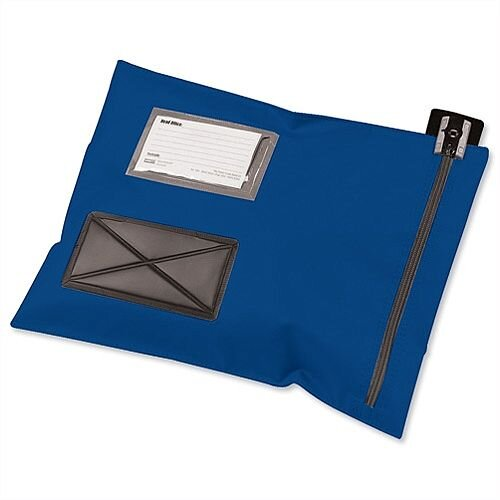 Mailing Pouch Durable 355x470mm Blue PVC Coated Nylon Versapak