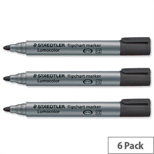 Staedtler Lumocolor Flipchart Markers Bullet Tip 2mm Assorted Pack 6