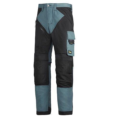 "6303 RuffWork, Work Trousers Petrol/Black 5104 Size 54 38""/32"""