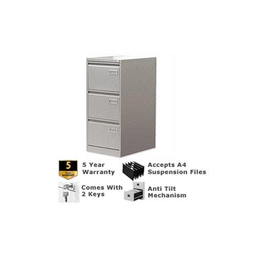 3-Drawer Filing Cabinet Goose Grey Bisley PSF