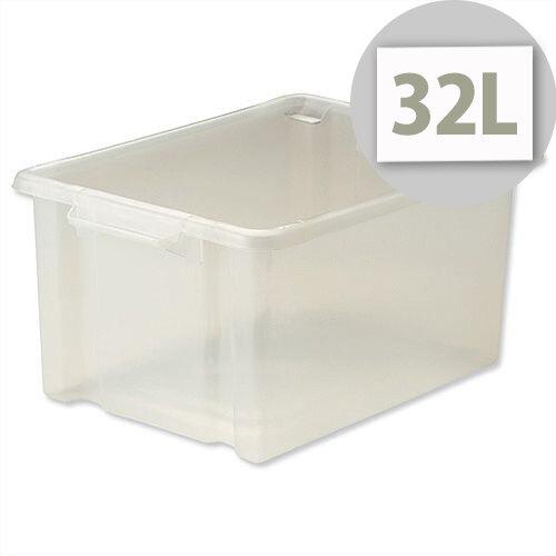Strata Storemaster Maxi Crate Translucent 32 Litres