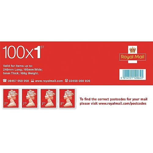 Royal Mail First Class Stamps [Pack of 100]
