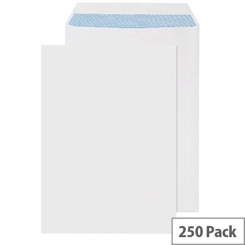 Q-Connect C4 White Envelopes Pocket Press Seal 90gsm (Pack of 250)