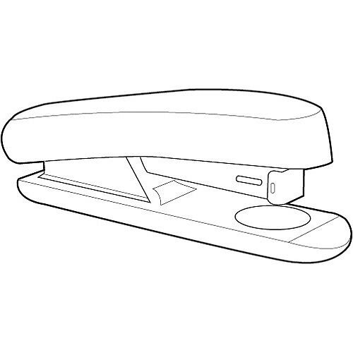 White Box Stapler Half Strip Black