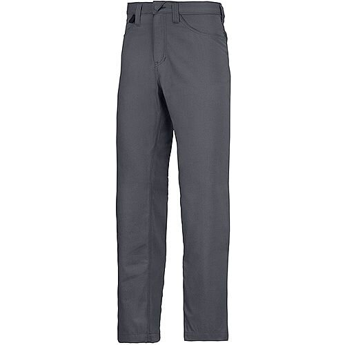 """Snickers 6400 Service Trousers Chinos Steel Grey Waist 33"""" Inside leg 35"""" Size 148"""