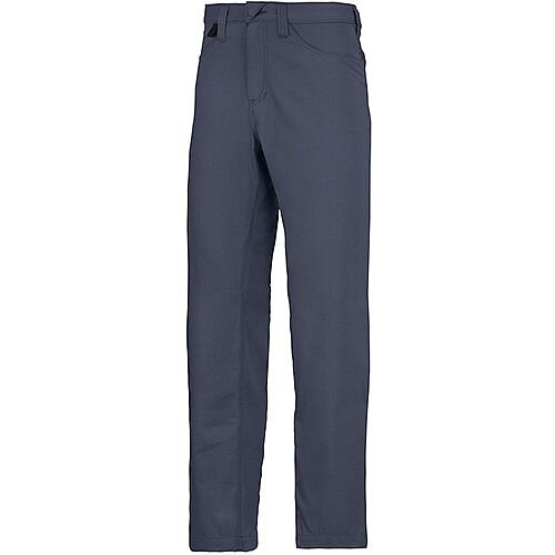 """Snickers 6400 Service Trousers Chinos Navy Waist 33"""" Inside leg 35"""" Size 148"""