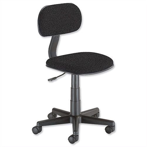 Trexus Intro Typist Chair Back H220mm W410xD390xH405-520mm Charcoal 10001-03