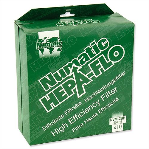 Numatic Replacement Hoover Bags Hepa-Flo for Vacuum Cleaners Charles &George NVM2BH Pack 10
