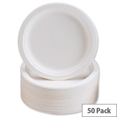 Caterpack Super Rigid 7inch Biodegradable Plates (Pack 50) 3865