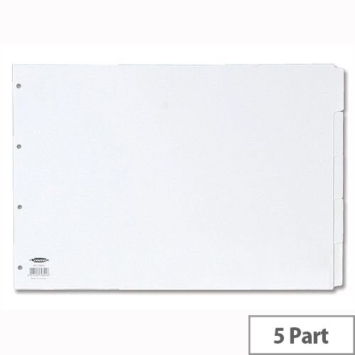 Concord 5 Part A3 Subject Dividers White