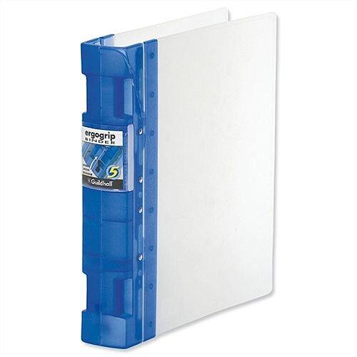 Guildhall GLX A4 Frost Blue Ergogrip Binder 8 Prong 55mm Pack 2