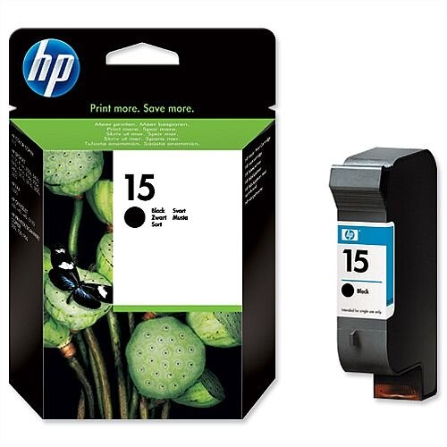 HP 15 Black Inkjet Cartridge Large C6615DE