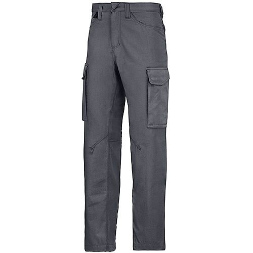 "Snickers 6800 Service Trousers Steel Grey Waist 36"" Inside leg 30"" Size 104"