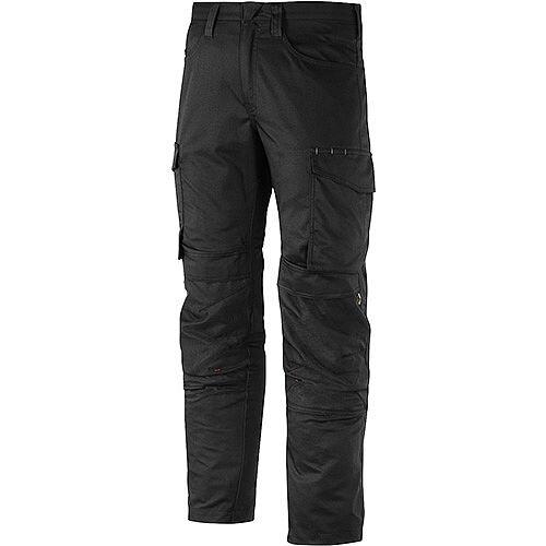 "Snickers 6801 Service Trousers Knee Guard Black Waist 30"" Inside leg 32"" Size 44"
