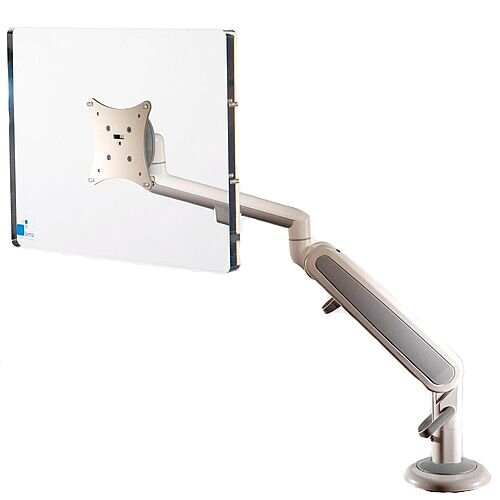 White &Grey Single Screen Air Monitor Arm VESA Mount Compatible 68G004