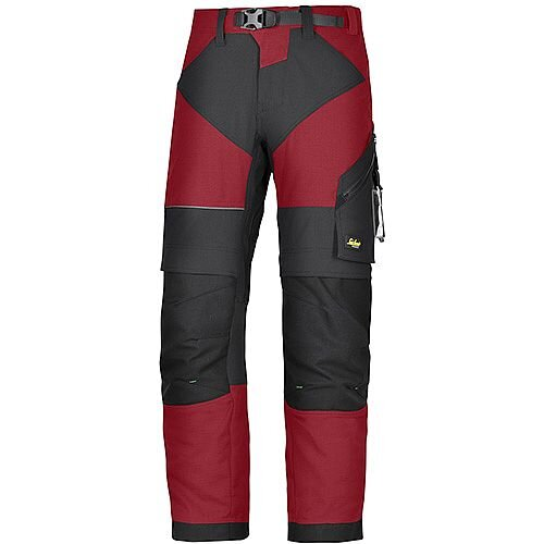 "Snickers 6903 FlexiWork Trousers Chill Red - Black W44"" L30"" Size 120 WW1"