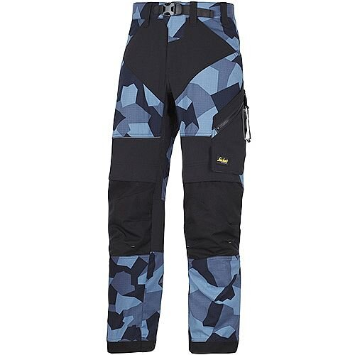 "Snickers 6903 FlexiWork Trousers Navy Camo - Black W36"" L30"" Size 104 WW1"