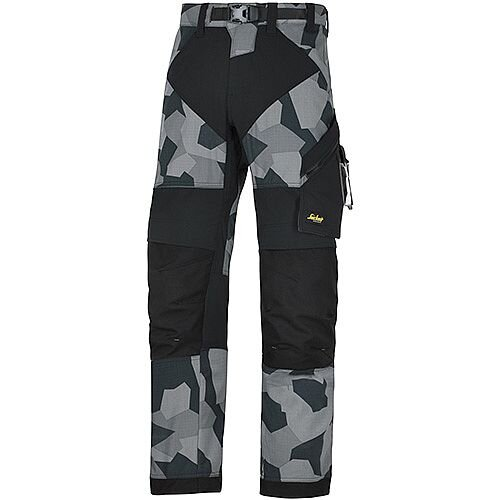 "Snickers 6903 FlexiWork Trousers Grey Camo - Black W36"" L30"" Size 104 WW1"