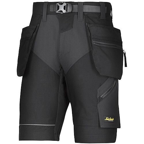Snickers FlexiWork Shorts With Holster Pockets Size 54 Black WW1