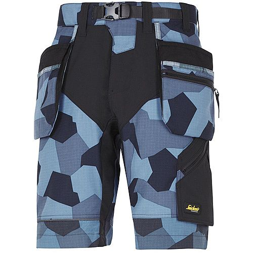 Snickers FlexiWork Shorts With Holster Pockets Size 54 Navy CamoWW1