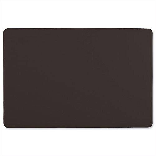 Durable Black Desk Mat Contoured Edge W650xD520mm