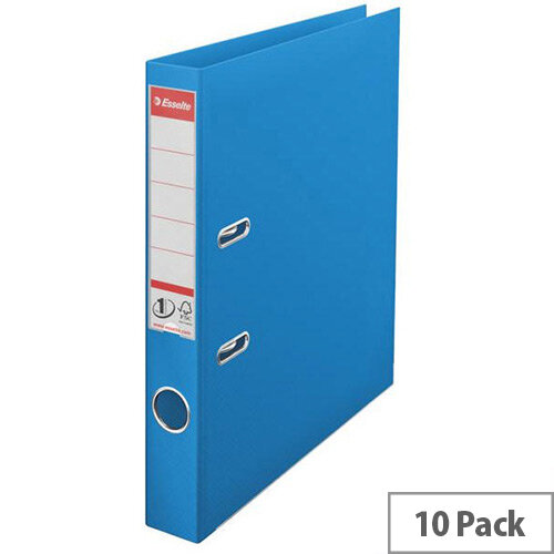 Esselte A4 Polypropylene 50mm Blue Lever Arch File Pack of 10