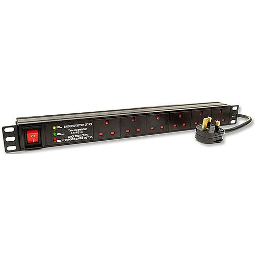 1U 6 Way Horizontal PDU