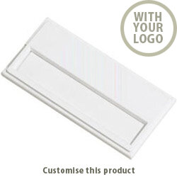 Name badge - Pocket Clip badge - White - Printed 70534011 - Customise with your brand, logo or promo text