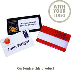 Corporate Name Badge 70555002 - Customise with your brand, logo or promo text