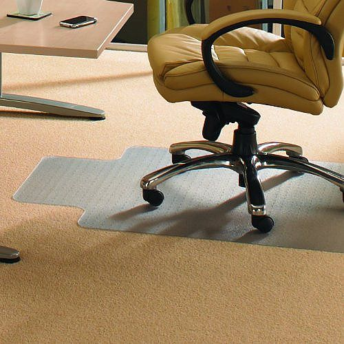 Cleartex Advantagemat Chair Mat PVC with Lip for Medium Pile 3mm Carpet 1150x1340mm 11341530LV