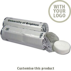 Mint Rolls containing 9 dextrose tablets 70712155 - Customise with your brand, logo or promo text