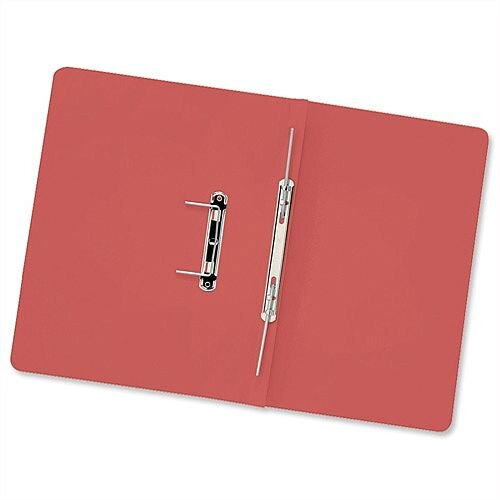 Transfer Spring Files Foolscap Red Capacity 38mm Pack 50 Guildhall