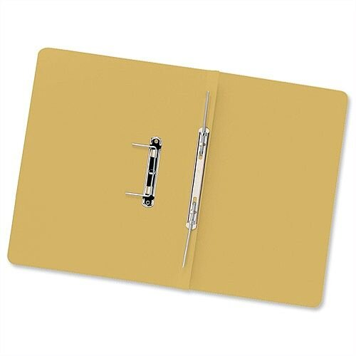 Transfer Spring Files Foolscap Yellow Capacity 38mm Pack 50 Guildhall
