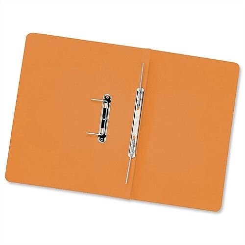 Transfer Spring Files Foolscap Orange Capacity 38mm Pack 50 Guildhall
