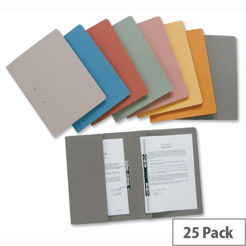 Red Transfer Spring Files with Inside Pocket 38mm Foolscap Pack 25 Guildhall
